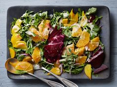 Roasted Beet Salad with Oranges and Creamy Goat Cheese Dressing recipe from Kelsey's Essentials via Food Network