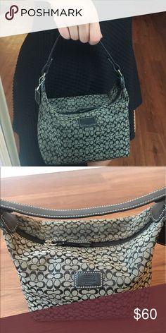 Signature Coach mini purse  perfect condition  barely used Coach Bags Mini Bags