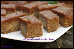 Almond Carob TahiniBars