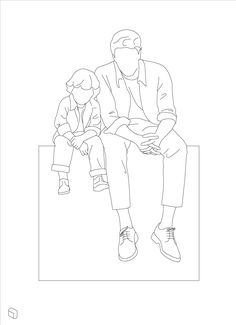 Cad Dwg Father & Son Sitting Cad Dwg People Silhouettes for Architecture & Interior Design Outline Drawings, Art Drawings, Architecture Drawing Sketchbooks, Autocad, Ligne Claire, Cad Blocks, Drawing For Beginners, People Illustration, Father And Son