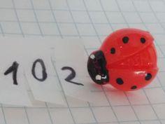 Tappo antipolvere coccinella rossa plastica jack cuffie 3.5mm_ OFFERTA 3x2