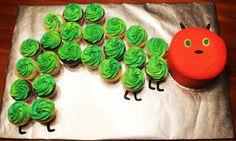 Hungry Caterpillar Cupcakes with Smash Cake