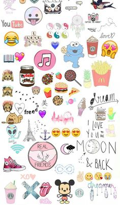 backgrounds, cookies, dream, emoji, food, foods, friends, infinity, love, nutella, paris, starbucks, tumblr, wallpaper, xo, First Set on Favim.com