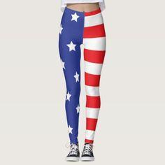 Red Leggings, Striped Leggings, Leggings Fashion, Print Leggings, American Flag Leggings, Sassy Girl, Look Cool, Things That Bounce, Kids Outfits