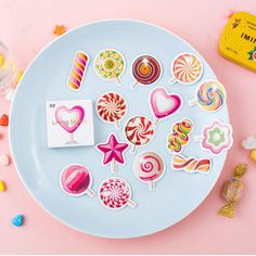 Lollipop Flake Stickers Stationery Organizer Diary Deco Stationary Planner Cute #Unbranded