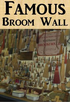 World Famous BROOM WALL - Victor Trading Company in Victor, Colorado.  Found this while visiting ghost towns and mining camps in Colorado.  See more family vacation pictures.