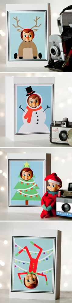 Kiddos will love seeing their elves' faces in these fun photo cut outs.  https://www.etsy.com/listing/170321972/props-for-the-elf-digital-files-for-diy?