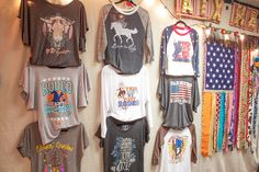 ATX Mafia Shirts on display.