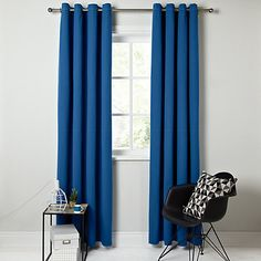 Buy John Lewis Cotton Rib Lined Eyelet Curtains Online at johnlewis.com