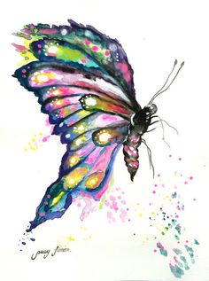 Original Watercolor painting Butterfly.Painting by LimonArtStudio