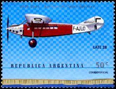 Stamp: Aircraft Late 28 (Argentina) (Birth centenary of Antoine de Saint-Exupéry) Mi:AR 2581,G&o:AR 3054,Gz :AR 2523