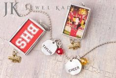 Custom charms for your team or club or just your favorite cheerleader!  For fundraising information please contact me at f@ebe.net