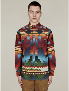 Polo Ralph Lauren Men\u0026#39;s Navajo Print Cotton Shirt