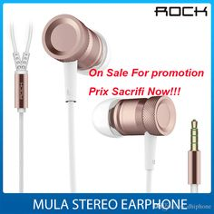 On Sale For Promotion 3.5mm Metal Mula Stereo Earphone Sports Cell Phone Speacker Wire In Ear Headphone For Iphone By Rock Bluetooth Phone Earbuds Cell Phone Earphone From Dhiphone, $3.02| Dhgate.Com
