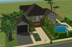 Mod The Sims - Suburban House (No CC)