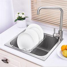 キッチンシンク(蛇口なし) 台所の流し台 #304ステンレス製流し台 18in 4640