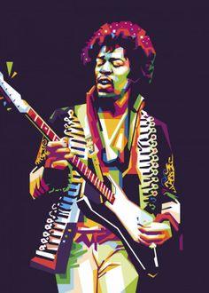 Jimi Hendrix WPAP by nofa aji zatmiko Heavy Metal Art, Heavy Metal Bands, Pop Art Portraits, Portrait Art, Jimi Hendrix, Historia Do Rock, Arte Pop, Keith Richards, New Artists