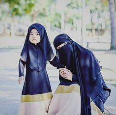 Adorable Little Muslimah with Her Ummi