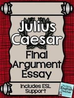 008 The Tragedy of Julius Caesar Character Analysis Graphic