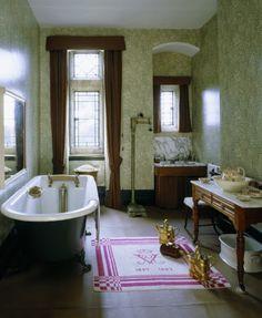 The ladies bedroom at Knightshayes Court, Devon