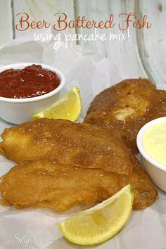 Beer Battered Fish, flaky white fish is dipped in a beer battered made from pancake mix and flash fried, a simple yet delicious weeknight meal! #GetYourBettyOn #ad - ThisSillyGirlsLife.com