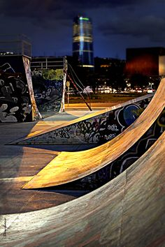 Bilbao by Donibane #bilbao #bizkaia #basquecountry #city #skate #night