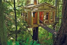 Stay in the most amazing adult treehouse at TreeHouse Point in Fall City, Washington. | 12 Stunning American Hotels You'll Want To Live In Forever