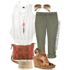 """""""Summer Casual - Plus Size"""" by alexawebb on Polyvore"""