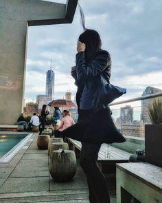 #nyc #manhattan #newyorkcity #newyork #skyline #skyscraper #architecture #sky #clouds #dramatic #girl #fashion #style #skirt #hair #wind #windy #club #clubbing #woman #beauty #urbanlife #city #citylife #lifestyle