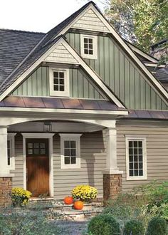 Mix horizontal & vertical #MetalSiding for a great look.  The lower roof areas are metal; the upper roof is asphalt.  We install both asphalt and #MetalRoofs in the Minneapolis St. Paul MN area.  http://www.quarve.com