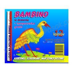 projekt graficzny opakowania na kredki bambino