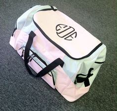 Monogrammed Duffle Bag by WhoDeyPromotions on Etsy, $38.00