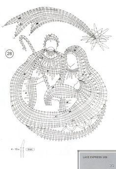 "Журнал ""Lace Express"" 2006 №3 Bobbin Lacemaking, Fillet Crochet, Bobbin Lace Patterns, Theme Noel, Lace Heart, Lace Jewelry, Lace Making, Irish Crochet, String Art"
