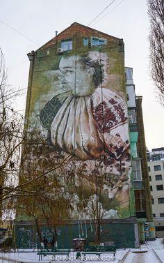 Street art in Kiev, Ukraine.                                                                                                                                                                                 More