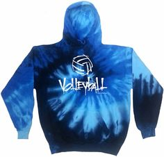 Tie Dye Hoodie Sweatshirt Blue Ocean Youth XS - Adult XXX-Large Cotton: Long sleeve hoodie made of a cotton, blue colour, in a swirl design, available in youth and adult sizes until XXX-Large Shibori, Volleyball Sweatshirts, Volleyball Outfits, Volleyball Jerseys, Kids Tie Dye, Spiral Tie Dye, Tie Dye Sweatshirt, Tee Shirt, Blue Tie Dye