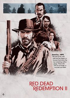 "Poster Posse x Rockstar Games ""Red Dead Redemption II"" – Poster Posse Red Dead Redemption 1, Rdr 2, Rockstar Games, Dead Man, Wild West, My Drawings, First Love, Video Games, Fictional Characters"