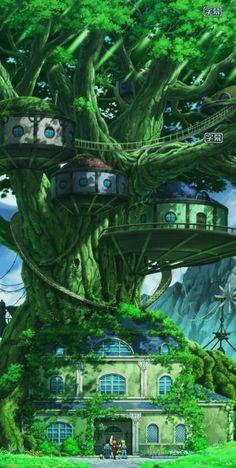 Fantasy Artwork, Fantasy Art Landscapes, Fantasy Concept Art, Fantasy Landscape, Landscape Art, Anime Art Fantasy, Fantasy City, Fantasy Places, Fantasy World