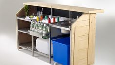 Mobile Bar, Portable Bars, Outdoor Event Events, Portabar®, Cantilever