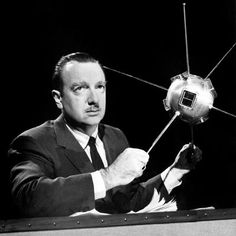 """COVERT SCIENCE-Walter Cronkite said that in the 1950's he & a group of reporters were invited to a Pacific island to observe an Air Force missile launching. As it blasted off, a disc-shaped object flew in & fired a blue beam, hitting the missile, a security guard, and his dog, freezing them in place. Later a colonel explained that they'd been part of a project to test people's reactions to UFOs. Cronkite didn't believe it; what he'd seen had been no man-made vehicle. """"Passing…"""