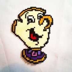 Chip (Beauty and the Beast) perler beads by wisebeadz