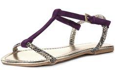 Dorothy Perkins Purple H Bar Sandals, $22