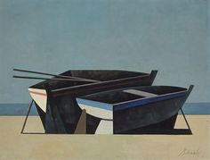 Duilio-Baranabe (1914-1961) - two boats