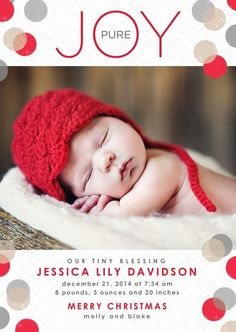 Christmas card/birth announcement - combined.....