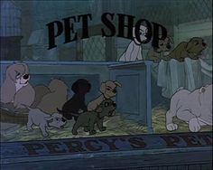 peg from lady and the tramp is in percy's pet shop in 101 dalmatians