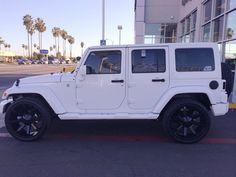 2015 All white Jeep Wrangler Unlimited Sahara. So sick!