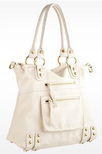 This would be a nice summer purse.  I like all of the outside zippers too.