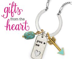 Gifts from the heart for that special someone! #ThirtyOneGifts #DreamCatcherNecklace KeepsakeCharm #You+Me #Arrow #NaturalStoneCharm #Turquoise #