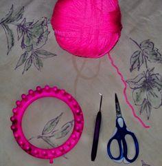 wikiHow to Purl Stitch on a Round Knitting Loom -- via wikiHow.com