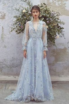 Get inspired and discover Luisa Beccaria trunkshow! Shop the latest Luisa Beccaria collection at Moda Operandi. Luisa Beccaria, Prom Dresses Long With Sleeves, Formal Dresses, Wedding Dresses, Long Gowns, Romantic Dresses, Dress Sleeves, Backless Dresses, Women's Dresses