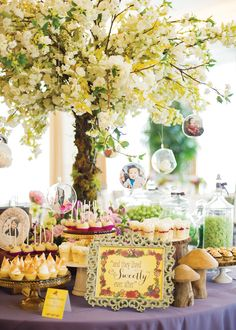 fairy tale theme BABY SHOWER | Fairy Tale First Birthday (Dol Celebration) // Hostess with the ...